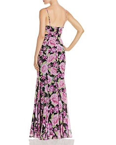 Fame and Partners - The Sienne Floral Cutout Georgette Maxi Dress