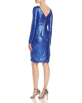 Tadashi Shoji - Draped Twist-Front Sequin Dress