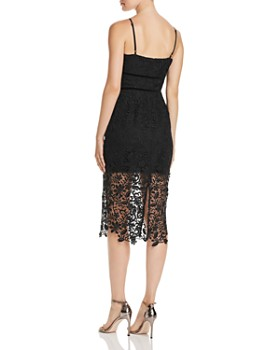 Adelyn Rae - Woven Lace Illusion Dress