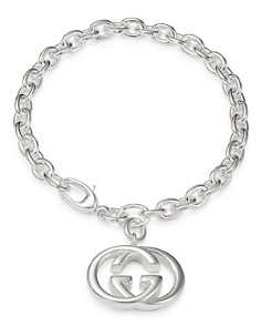 Gucci Sterling Silver Brit GG Pendant Bracelet - Bloomingdale's_0