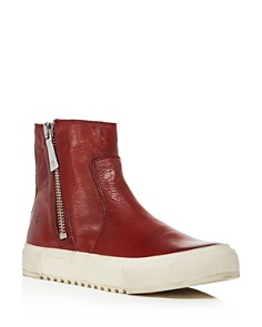 Frye - Women's Gia Side Zip Leather High Top Sneakers