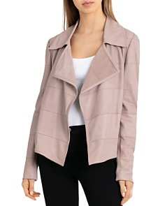 BAGATELLE.CITY - Suede Channel-Stitched Open Jacket