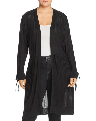 Tied Cuff Open Duster Cardigan   100% Exclusive by Love Scarlett Plus