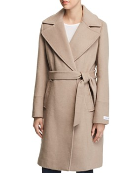 Calvin Klein - Notched Collar Wrap Coat