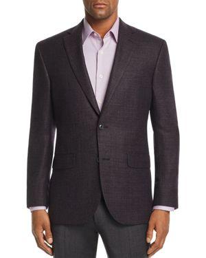JACK VICTOR Melange Hopsack Weave Regular Fit Sport Coat in Plum