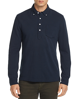 Oobe Charleston Long-Sleeve Button-Down Polo Shirt