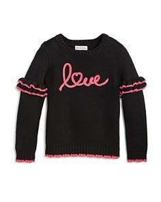 Design History - Girls' Ruffled Love Sweater - Little Kid