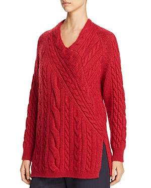 Weekend Max Mara Cinema Directional Cable Knit Sweater - 100% Exclusive