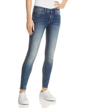 TRUE RELIGION JENNIE PERFECT CURVY SKINNY JEANS IN SMOKEY BLUE