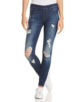 True Religion - Jennie Runway Legging Jeans in Cloudy Sea