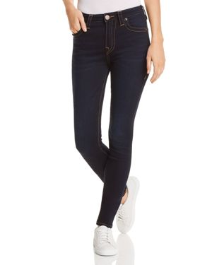 TRUE RELIGION HALLE HIGH RISE SKINNY JEANS IN DARK RAINDROP