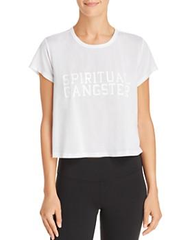Spiritual Gangster - Varsity Logo Cropped Tee