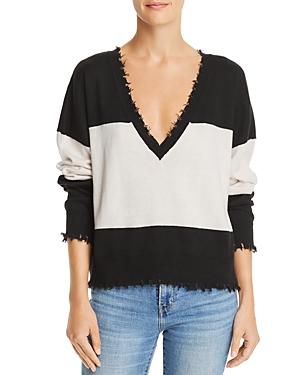 Nation Ltd Jolie Distressed Color-Block Sweater