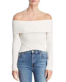 Sadie & Sage - Off-the-Shoulder Overlay Top
