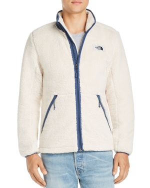 THE NORTH FACE Campshire Zip Fleece Jacket in Vintage White/ Shady Blue