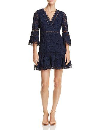 AQUA - Bell Sleeve Lace Dress - 100% Exclusive