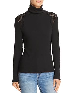 Generation Love Carmine Lace-Inset Turtleneck Sweater