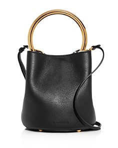 Marni - Mini Pannier Ring Handle Leather Bucket Bag