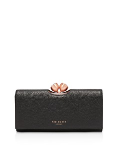 Ted Baker - Muscovy Bobble Matinee Textured Leather Wallet