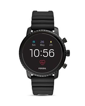 ca2103620979 Fossil - Q Explorist HR Silicone Strap Touchscreen Smartwatch, ...