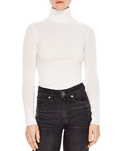 Sandro - Calico Fitted Turtleneck Sweater