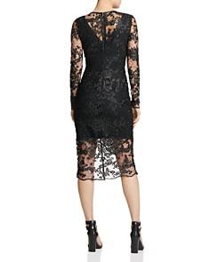 Donna Karan - Embroidered Lace Illusion Sheath Dress