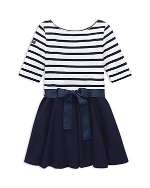 Polo Ralph Lauren Girls Striped Bow Dress  Bloomers Set  Little Kid