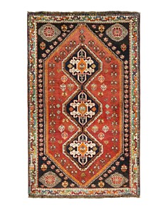 """Solo Rugs - Sarouk Winnie Hand-Knotted Area Rug, 3' 8"""" x 5' 5"""""""