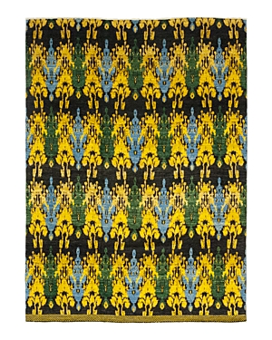 Solo Rugs Ikat Asansol Hand-Knotted Area Rug, 12'1 x 15'5