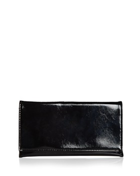 AQUA - Medium Metallic Foldover Clutch - 100% Exclusive