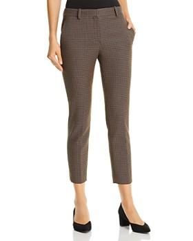 Theory - Treeca Cropped Jacquard Pants