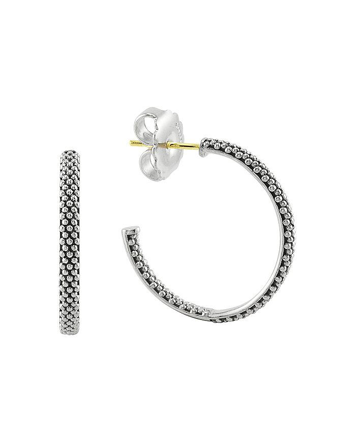 LAGOS - Sterling Silver Signature Caviar Hoop Earrings
