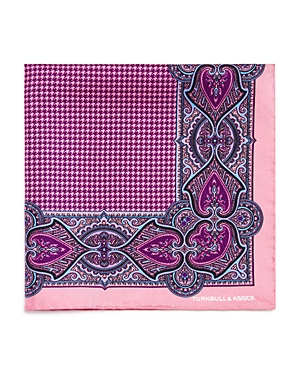 Turnbull & Asser Ornate Houndstooth Silk Pocket Square