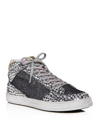 Queens Glitter Mid-Top Sneakers