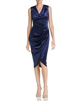 Adrianna Papell - Draped Velvet Dress