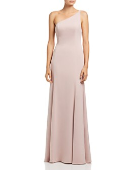 Watters - Jelina One-Shoulder Gown
