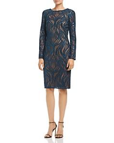 Tadashi Shoji - Embroidered Wave Mesh Dress