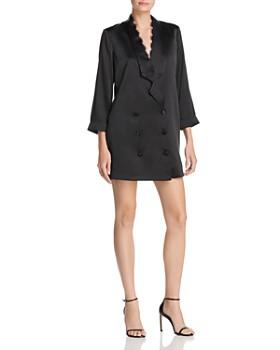 CAMI NYC - Silk Tuxedo-Jacket Dress
