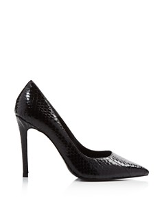 Charles David - Women's Caleesi Pointed Toe Snake-Embossed Leather High-Heel Pumps