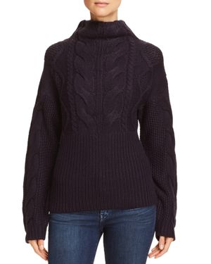 Aqua Mixed Stitch Sweater - 100% Exclusive