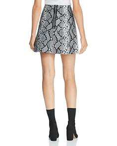 Veda - Snake-Print Leather A-Line Mini Skirt
