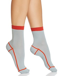 Happy Socks Hysteria Lily Ribbed Ankle Socks - Bloomingdale's_0