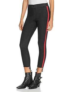 Hue Zeza B by Hue Step-Hem Contract Tuxedo Denim Skimmer Leggings
