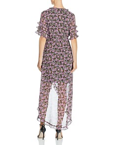 Lost and Wander - Lovestoned Floral-Print Wrap Dress