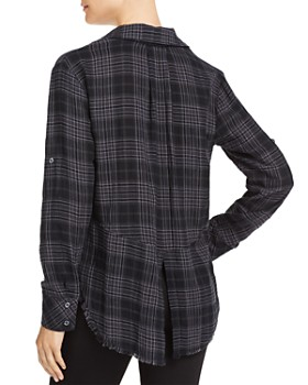 Bella Dahl - Frayed Split-Back Plaid Shirt