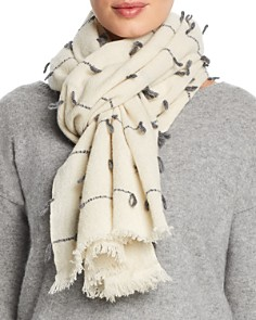 Fraas - Stitch Detail Wool Scarf
