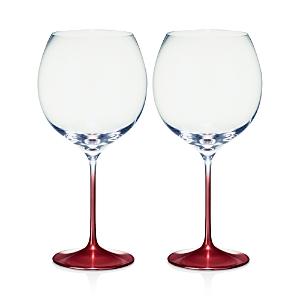 Villeroy & Boch Allegorie Premium Rose Burgundy/Grand Cru Glass, Set of 2