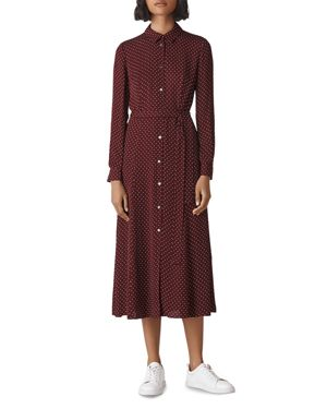 Whistles Margot Dot Shirt Dress