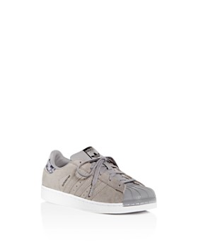 Adidas - Boys' Superstar Suede Lace up Sneakers - Toddler, Little Kid