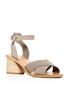 Dolce Vita - Women's Roman Nubuck Leather Mid-Heel Sandals